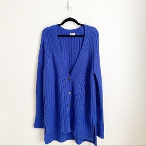 Moth Anthropologie Chunky Knit Long Cardigan